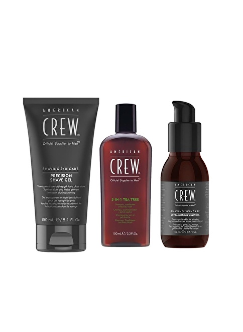 American Crew Groomıng Kıt(Shave Jel+Oıl+3-In-1 Renksiz